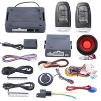 Wholesale US Stock Quality PKE car alarm system with passive keyless entry push button start automatic owner identify remote trunk release