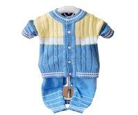 Wholesale Boys Girls Baby Newborn Toddler Clothes Colorblock Cardigan Sweater M