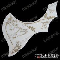 Wholesale FN white hard plastics hummingbird flower folk guitar pick guard wood guitar guard plate protective panel