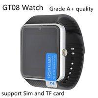 al por mayor espanol-La mejor calidad de Bluetooth inteligente reloj GT08 Para Android IOS iPhone de la muñeca del desgaste Soporte de sincronización SIM / TF tarjeta de la cámara de Seguimiento podómetro del sueño