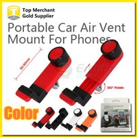 air frames - Universal Portable Car Air Vent Mount Mobile Phone GPS Holder Frame Degree Rotating for iPhone Plus S smart phone with package