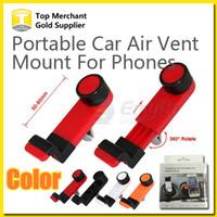 achat en gros de vent mount gps-Universel Portable voiture Air Vent Mount Téléphone Mobile GPS titulaire cadre 360 degré rotatif pour iPhone 6 Plus 5 s smart téléphone avec forfait