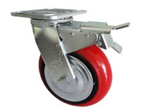 Wholesale Selling inch heavy duty polyurethane core activity red brake wheels