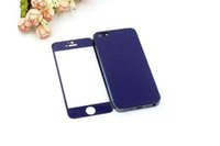 Wholesale Temoered Glass protection screen H Ultrathin D New Design For Iphone4s front and back with packag
