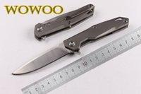 ball bearings - CH Original Design Tianyi Flipper folding Pocket knife cr18mov ball bearings Blade TC4 titanium alloy handle camping knife EDC tools