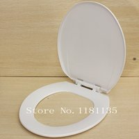 Wholesale New Soft Close Slow Closing Elongated WC Toilet Seat with Lid White Anti Slam