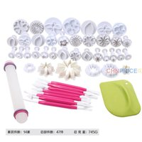 Wholesale 47pcs set Rolling Pins Pastry Boards Kit Silicone Fondant Cake Baking Pastry Biscuit Tools