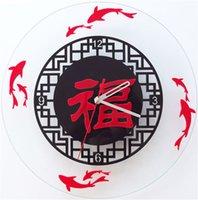 Cheap Dover attendant custom personalized wall clock quartz wall clock fashion furniture hang Zhong Chaojing sound mute Chinese