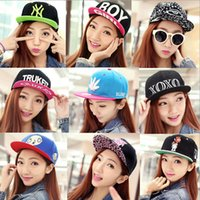 Wholesale 2015 Fashion Baseball Ball Caps Hip Pop Sport Hat Caps For Men and Women Free Ship