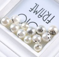 plastic pearl beads - White perforating Plastic imitation pearl Loose Beads Handmade DIY Jewelry Accessories D507