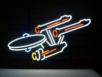 bar enterprise - NEW STAR TREK ENTERPRISE SPACE SHIP REAL GLASS NEON BEER BAR PUB LIGHT SIGN quot
