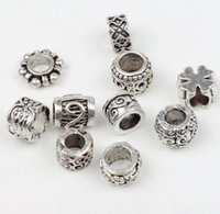 european bracelet - New Tibetan Silver Flower Dots Spacer Charms Beads Fit European Bracelet