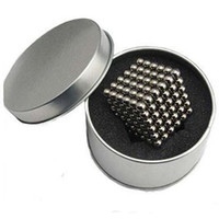 Wholesale New Creative Neo Cube Magic Cube mm Puzzle Magnetic Balls puzzle block Silver Color with metal box