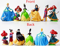 baby belle doll - 6pcs Princess pvc figure doll Cinderella Snow White Rapunzel Mermaid Ariel Jasmine Belle baby princess toy