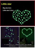 belle room - Set belle étoiles lumineuses fluorescentes D Stickers muraux Home Decor For Kids chambres