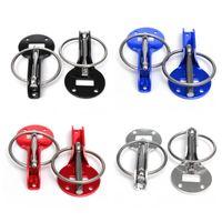 Wholesale 2015 New Universal Practical Alloy Mount Bonnet Hood Pin Pins Lock Latch Kit RaceCar Motorcycle order lt no track