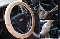Wholesale Hot selling warm plush winter car steering wheel cover imitation wool Universal auto supplies car accessories
