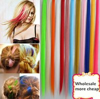 Wholesale New Arrival Colors Hair Pieces clip in Hair Extentions Long Straight Hair Peaces Women s Fashion Synthetic Hair G0048