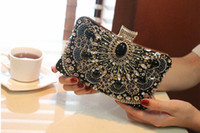 bag hand make - Luxury Latest Bling Hand Make Evening Bags Clutch Chain Handbags Purses For Wedding Party Bridal Bags