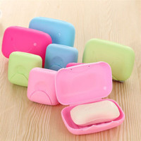 bathroom accessories sale - Hot Sales Hand Soap Box Dishes Seal With Cover Waterproof Leak Bathroom Accessories Plastic JB2