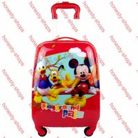Wholesale Factory Direct Sale Multiple fuction inch Cartoon Mickey Kids Suitcase with Spinner Wheels