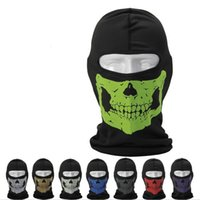 bc printing - Skull Print Design Cycling Masks Anti UV Sunshine Proof Breathable Cheap Cycling Caps Multiple Color Choice Bicycle Face Mask BC