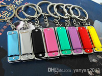 Wholesale NEW MUSIC BOX Harmonica Four hole Tone Mini Harmonicas World s Smallest Harmonica Musical Instruments With Necklace Key Ring Key chain