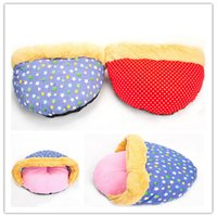 Wholesale Pet Dog Puppy Cat Soft Fleece Cozy Warm Nest Bed House Mat For Pet thick pet Sleeping nest dot and five star