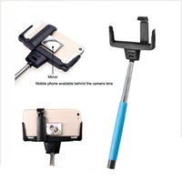 Wholesale Best Selling D09 Selfie Stick With Bluetooth Shutter Button With Mirror Easy For Selfie PK Z07 zp bluetooth selfie stick DHL Free