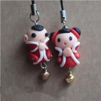Wholesale 25Pairs Creative Handmade Polymer clay accessories Christmas Gift Key chain