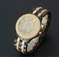 bewell watch - new arrival Vine men s watch bewell wooden watch black sandal amp maple wood colors movement Japan VJ32 factory