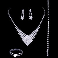 artificial jewellery sets - 2016 fashion luxury bridal necklace set wedding jewellery artificial wedding bouquets four sets wedding jewelry accessories