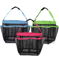 Wholesale Fashion Dry Fast Mesh Portable Shower Caddy Bathroom Carry Bag Bathroom Stuff Organizer Camping Travel Dorm Gym Pockets Baskets