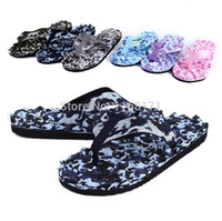 Wholesale Summer Beach Massage Flip Flops shoes Camouflage Men Women Sandals Top Quality Male Slipper indoor outdoor flip flops size