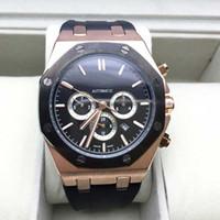 mechanical stop watch - New Luxury Men Watches Royaloak Offshore automatic Stop watch Rubber Strap Men s Watch Wristwatch AAA Quality