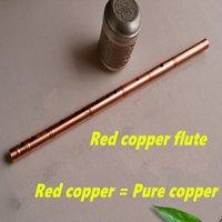 Wholesale Red Copper Metal Flute Dizi G Key Metal Flauta Profesional Concert Flute Musical Instruments Flauta Self defense Weapon Flautas