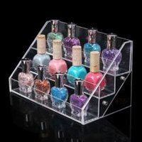 Wholesale Clear Acrylic Nail Polish Varnish Display Stand ego liquid Display Stand Rack Tiers