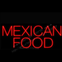 barber foods - 22X13 quot MEXICAN FOOD NEON SIGNS NEON LIGHTS FREE DISIGN Real NEON BOARD SHIP BY EMS Neon Light Sign Led Barber Shop Sign