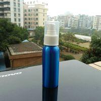 aluminum metal fabrication - 80ml aluminum blue bottle With white plastic pump aluminum bottle fabrication aluminum bottle can