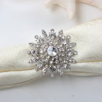 rhinestone napkin ring - Rhinestone Napkin Ring Serviette Holder Napkin buckle for Wedding Party Decoration