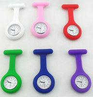 Wholesale High Quality Nurse Brooch Fob Tunic Watch Silicone Cover Nurse Pocket Watch Jelly Quartz Watches colors available