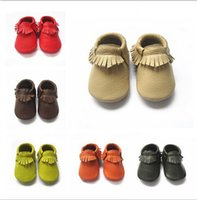 Wholesale baby moccasins soft genuine leather baby booties toddler baby shoes