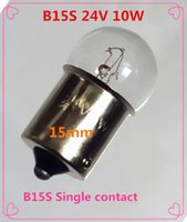 bead contacts - Small bulb light beads Single contact B15 V w W Indicator bulb B15S V W W B15S mm Single contact B15 W W V