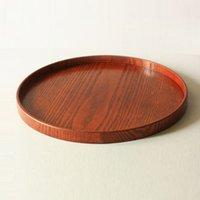 plates - Retro Round DIY Handcraft Wood Dish Coffee Milk Tea Tray CM CM Eco Friendly Wooden Cup Plate Serving Dish Storage