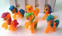 Wholesale Attractive Sets Color My little Pony Action Figures toy CM Pony Littlest Figure Xmas Gift For Kids