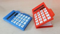 pocket notebook calculator - 100pcs nice Pocket solar calculator notepad with business calculator notebook pen