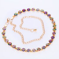 belly chain jewellery - Women s Belly Waist Chain Colorful Rhinestone Crystal Belt Wedding PARTY COSTUME Dance JEWELLERY Brides and Bridesmaids Gifts