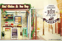 beer articles - New Arrive DIY Doll House Beer and Fried chicken shop house creative home furnishing articles by hand Boutique gift Dollhouse