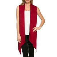 Wholesale JECKSION Colete Feminino Plus Size Womens Cardigan Irregular Sleeveless Knit Bat Casual Coat For Women