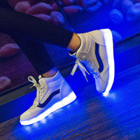 Wholesale 2015 New Casual Skate Board Sneakers Man Women Shoes Large Size LED Luminous Shoes Flat Shoes Sports Shoes Kinds Of Styles